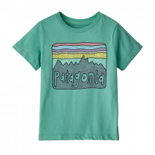 Baby Fitz Roy Skies Organic T-Shirt by Patagonia in North Vancouver BC