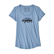 Women's Fitz Roy Bear Organic Scoop T-Shirt by Patagonia in New Denver Bc