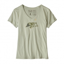 Women's Live Simply Sleeping Out Organic V-Neck T-Shirt by Patagonia in Iowa City IA