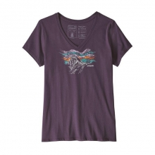Women's Raindrop Peak Organic V-Neck T-Shirt by Patagonia