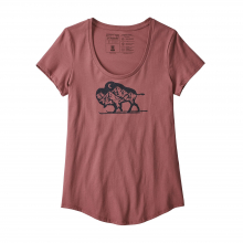 Women's Nordic Bison Organic Scoop T-Shirt