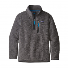 Boys' Retro Pile 1/4 Zip by Patagonia in Red Deer Ab