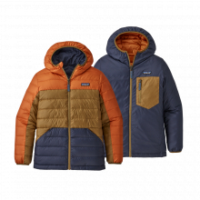 Boys' Reversible Down Sweater Hoody by Patagonia in Sioux Falls SD