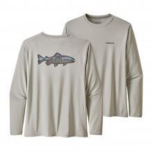 Men's Long-Sleeve Cap Cool Daily Fish Graphic Shirt by Patagonia in Blacksburg VA