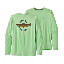 Men's Long-Sleeve Cap Cool Daily Fish Graphic Shirt by Patagonia in Fayetteville Ar