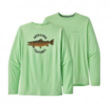 Men's Long-Sleeve Cap Cool Daily Fish Graphic Shirt