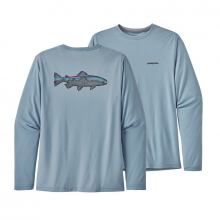 Men's Long-Sleeve Cap Cool Daily Fish Graphic Shirt by Patagonia in Mobile Al