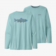 Men's L/S Cap Cool Daily Fish Graphic Shirt by Patagonia