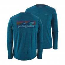 Men's L/S Cap Cool Daily Graphic Shirt by Patagonia in Ridgway Co
