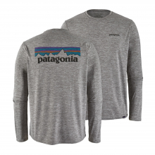 Men's Long-Sleeve Cap Cool Daily Graphic Shirt by Patagonia in Langley City Bc