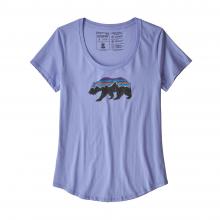 Women's Fitz Roy Bear Organic Scoop T-Shirt by Patagonia in Arcata Ca