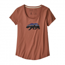 Women's Fitz Roy Bear Organic Scoop T-Shirt