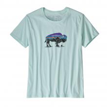 Women's Fitz Roy Bison Organic Crew T-Shirt by Patagonia in Arcata Ca
