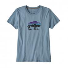 Women's Fitz Roy Bison Organic Crew T-Shirt by Patagonia
