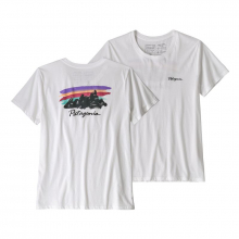 Women's Free Hand Fitz Roy Organic Crew T-Shirt by Patagonia in Delray Beach Fl