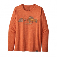 Women's L/S Cap Cool Daily Graphic Shirt by Patagonia in Sioux Falls SD