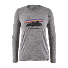 Women's L/S Cap Cool Daily Graphic Shirt by Patagonia in Blacksburg VA