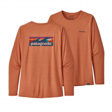 Women's Long-Sleeve Cap Cool Daily Graphic Shirt by Patagonia in Campbell Ca