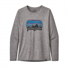 Women's L/S Cap Cool Daily Graphic Shirt by Patagonia in Blacksburg VA