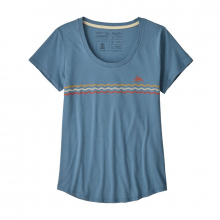 Women's Flying Fish Line Up Organic Scoop T-Shirt