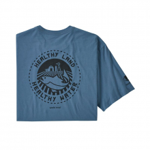 Men's Safeguard Stencil World Trout Organic T-Shirt by Patagonia