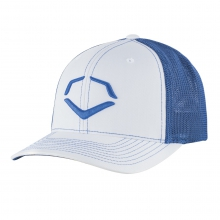 Speed Stripe Mesh Flex Fit Hat - White / Royal by EvoShield