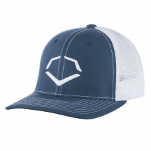 Speed Stripe Mesh Flex Fit Hat - Navy / White by EvoShield