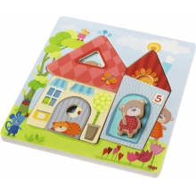 Wooden Puzzle Bear House by HABA