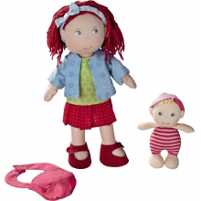 "Doll Rubina 12"" with baby by HABA"