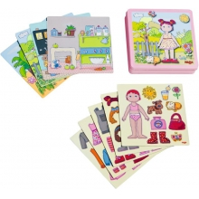 Dress-up Doll Lilli Magnetic Game by HABA