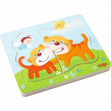 Wooden Puzzle Cuddly Kitties by HABA