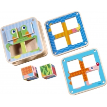 Cubes Puzzle - Garden Animals