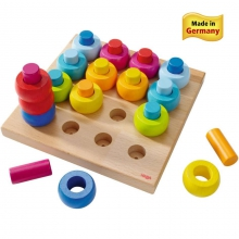 Rainbow Whirls Pegging Game by HABA