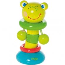 Clutching toy Clatter Frog by HABA