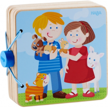 Wooden Baby Book Animal Kids by HABA