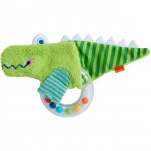 Clutching toy crocodile (Fabric/plastic ring)