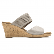 Briah Double Band Slip-On Wedge Sandal