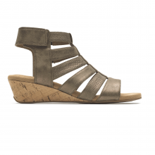 Calia Gladiator Mid Wedge Sandal by Rockport
