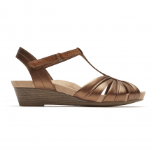 Cobb Hill Hollywood Pleated T Strap Sandal