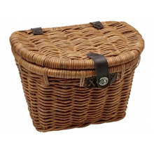 Woven Rattan Basket with Lid by Electra