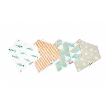 Pacific Bandana Bib Set by Copper Pearl in San Luis Obispo Ca