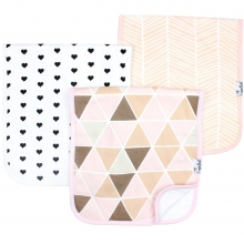 Blush Burp Cloth Set by Copper Pearl in Dothan Al