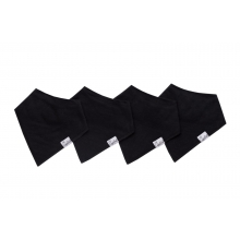Black Basics Bandana Bib Set