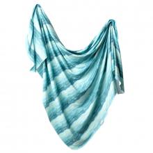 Waves Knit Swaddle Blanket