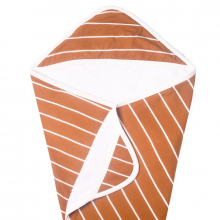 Camel Stripe Premium Knit Hooded Towel