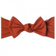 Rust Knit Headband Bow
