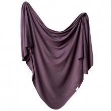 Plum Knit Swaddle Blanket