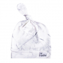 Marble Newborn Top Knot Hat