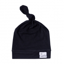 Midnight Baby Top Knot Hat