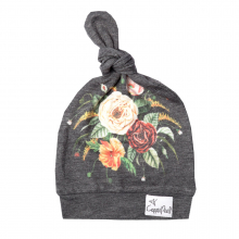 Raven Baby Top Knot Hat